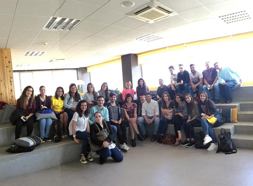 Visita al Link by UMA, espacio orientado a la innovación y al emprendimiento, con mis alumnos de Periodismo de la UMA