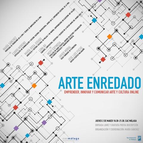 #ArteEnredado, o las claves para emprender, innovar y comunicar arte y cultura online, en un workshop gratuito que organizamos el 2 de marzo en el CAC