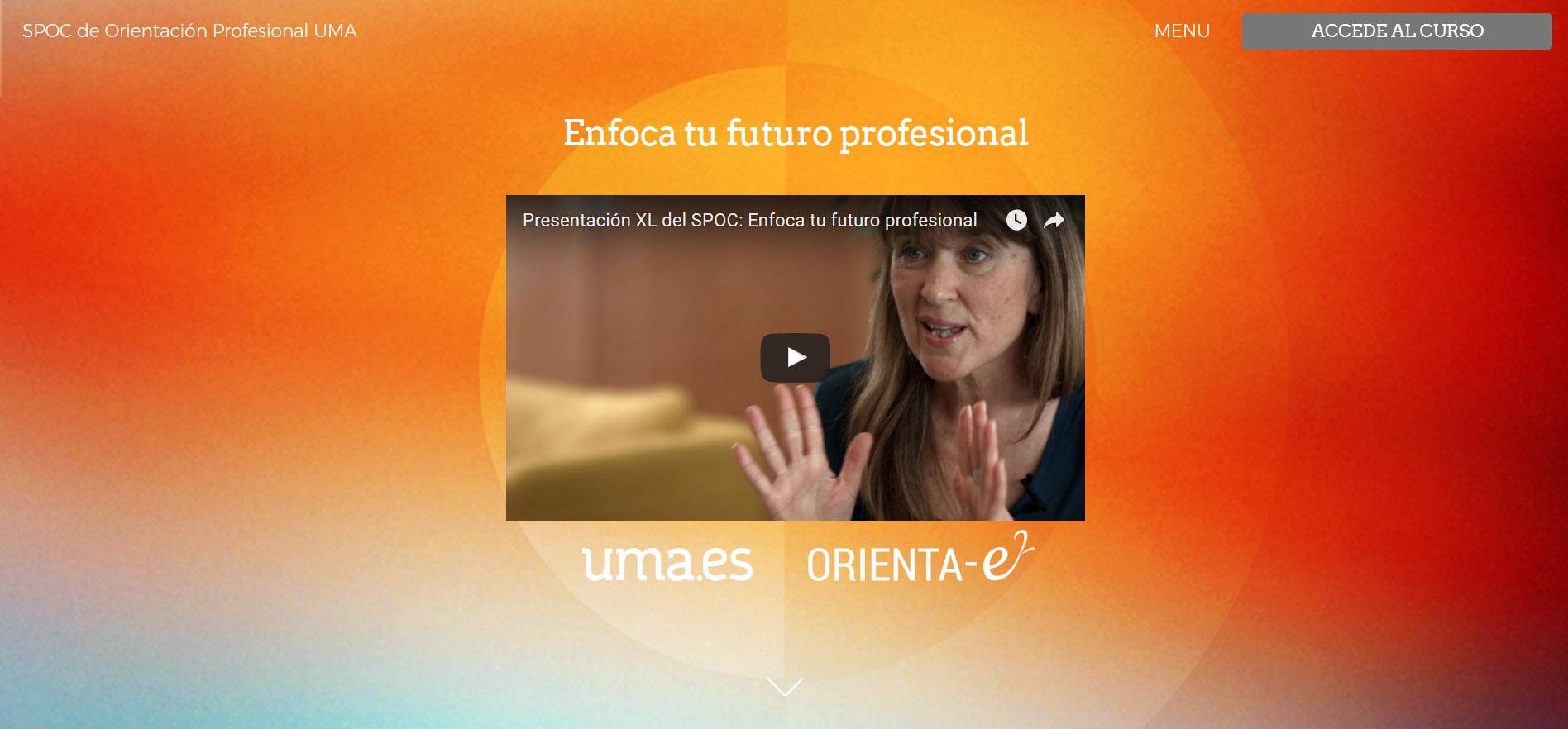Estamos de estreno: curso SPOC de Orientación Profesional para estudiantes de la Universidad de Málaga