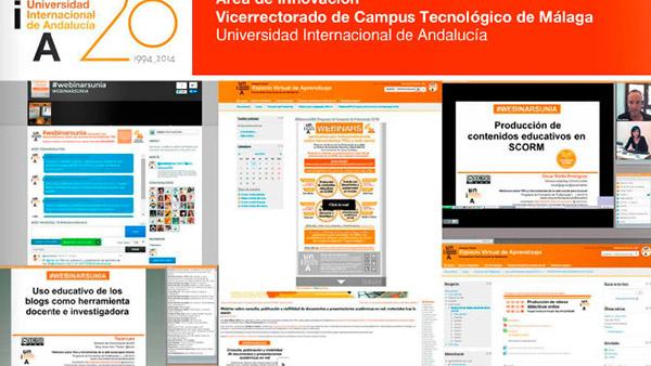 Programas anuales de formación del profesorado de la UNIA en materia de TICs e innovación educativa