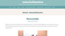 Diseño y edición blog Asociados UMA
