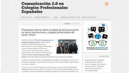 """Coordinadora grupo investigación """"Estrategias de comunicación 2.0 en los Colegios Profesionales…"""""""