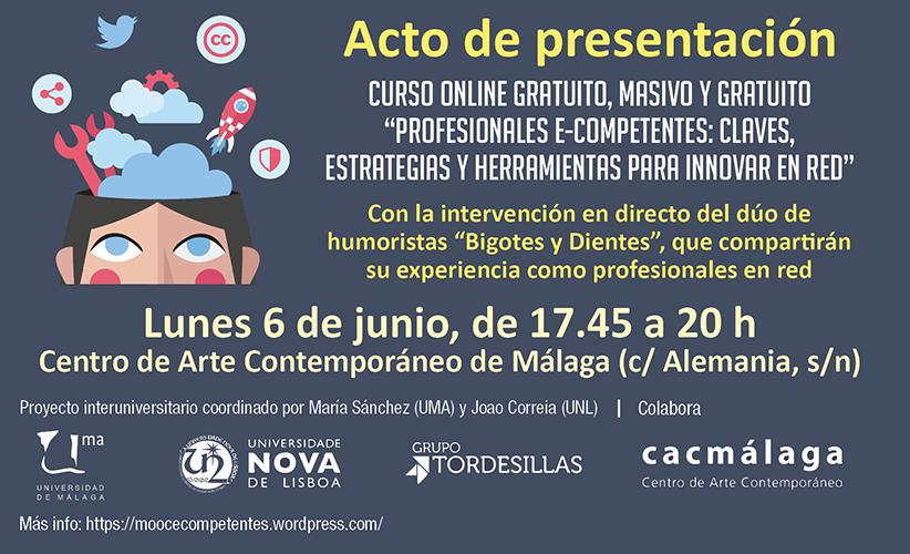 ¿Nos acompañáis? 6 de junio, presentación oficial de nuestro MOOC sobre uso profesional de social media con varios invitados y sorpresas