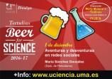 Savethedata: el 1 de diciembre estaré en las tertulias Beer for Science de la UMA con una charla sobre redes sociales