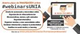 Regresan los #webinarsUNIA, seminarios online por videoconferencia sobre TICs y social media para innovar