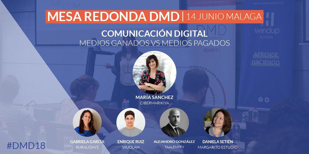 Medios propios y ganados versus medios pagados: ¿te unes al debate en el próximo Digital Marketing Day de Málaga (#DMD2018)?
