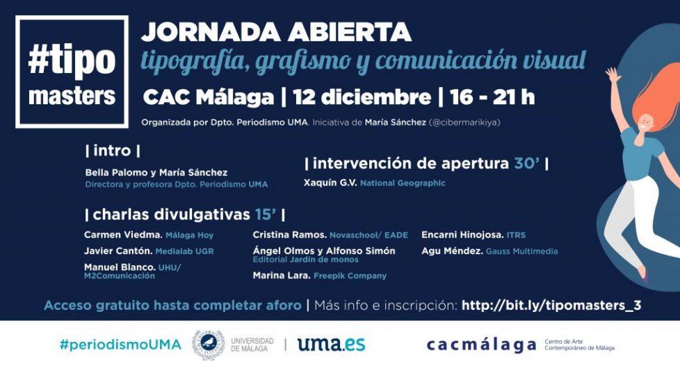 Save the data: Tipomasters, jornada gratuita sobre grafismo y comunicación visual, celebra su tercera edición en CAC Málaga el 12 de diciembre
