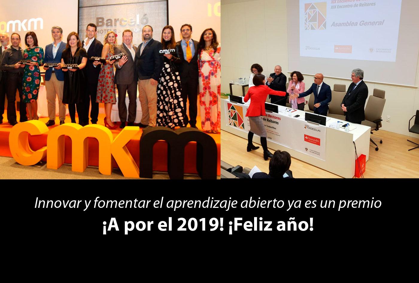 Trabajar en aprendizaje abierto y aprender trabajando, ya es un premio, seguimos… ¡feliz 2019!
