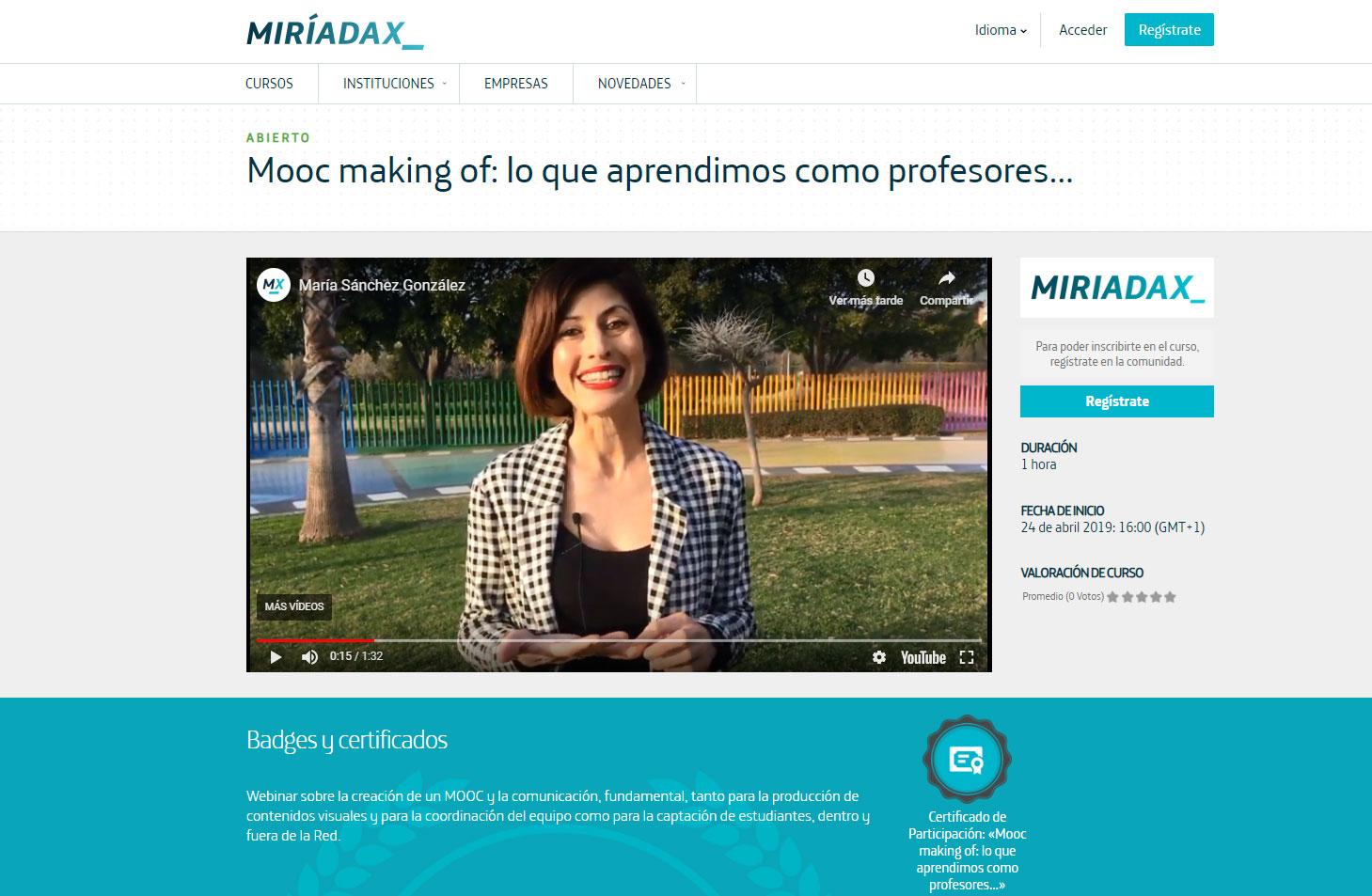 Webinar gratuito para Miriadax sobre la experiencia del #MOOCecompetentes, el 24 de abril: ¿te apuntas?